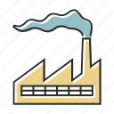 factory, industry, line icon