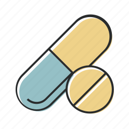 health, industry, line, medicine, pharmaceutical, pil icon
