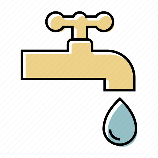 faucet, industry, line, plumber, plumbing, tap icon