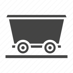 charcoal, mine, miner, minerals, mining, transport, transportation, wagon icon