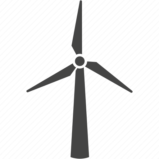 electricity, energy, generate, generating, green, natural, power, turbine, wind, windmill icon