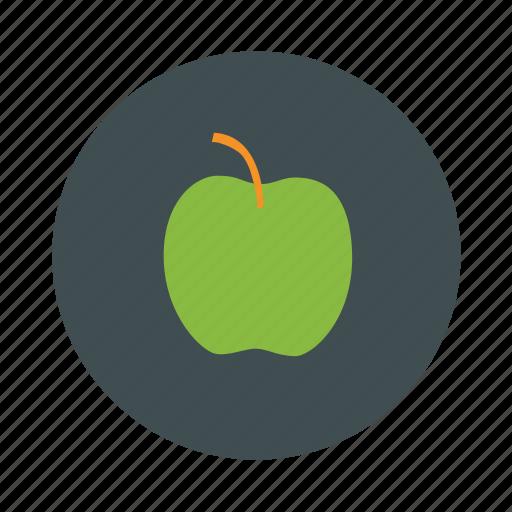 apple, fruit, green, juice icon