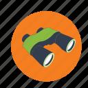 binoculars, lenses icon