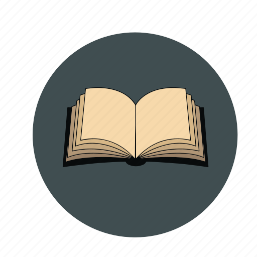 book, education, notebook, open, study icon