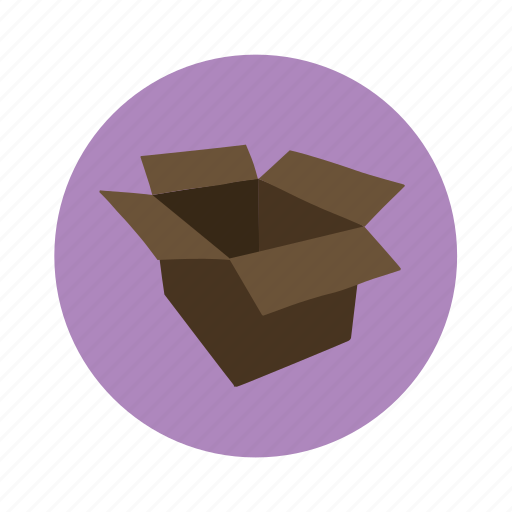box, cardboard, delivery, open icon