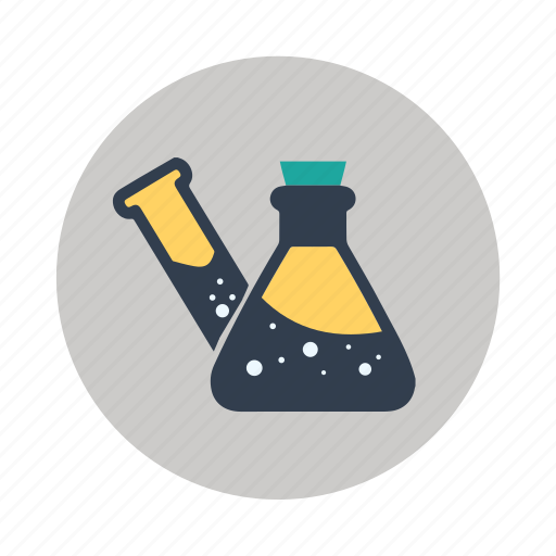 apparatus, chemicals, chemistry, equipment, flasks, laboratory, labs icon