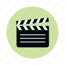 clapboard, clapper board, direction, film, film slate, movie icon