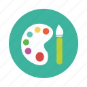 art, art pallete, artist, color, painting, pallete, toolkit icon