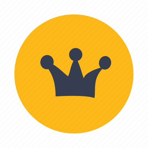 crown, king, leader, ornate, royal icon