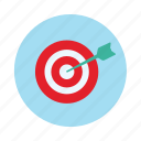 aim, arrow, board, dart, dart board, target icon