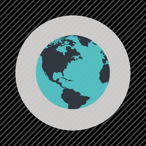 earth, globe, sphere, world icon