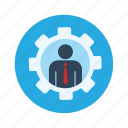 engineer, man settings icon