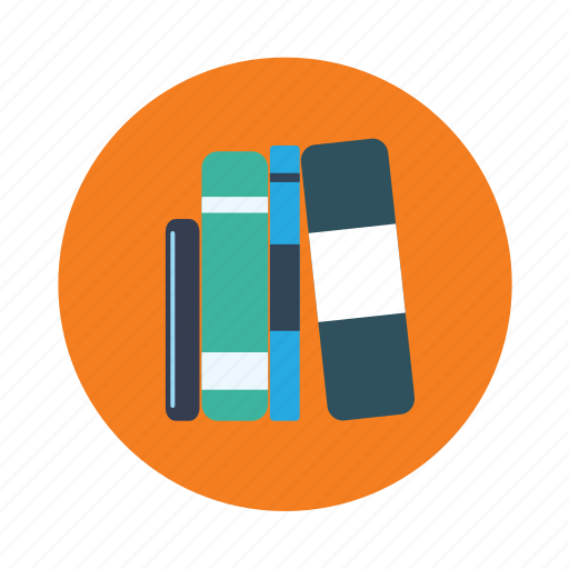 books, files, lawyer, library, office, pile of books icon