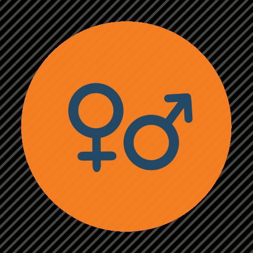 gender, male female, signs, symbols icon