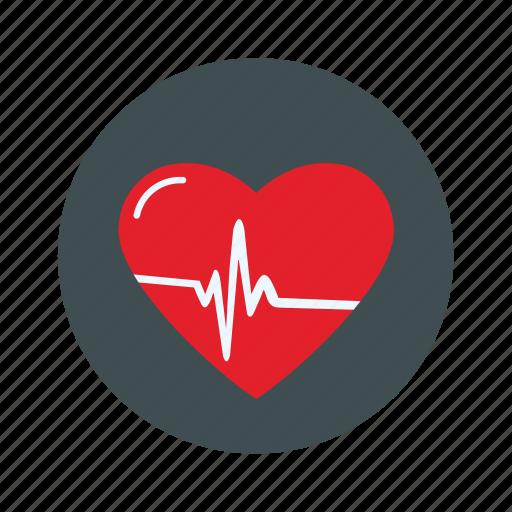 heartbeat, love, valentine icon