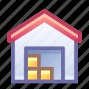 warehouse, storage, building