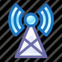radio, tower, signal, building