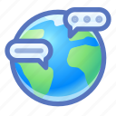 global, communication, messages