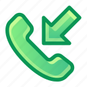 phone, call, incoming