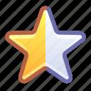 star, rating, half