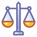 justice, scales, balance