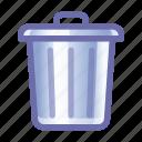 delete, trash, can