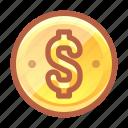 money, coin, income