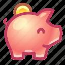 piggy, bank, money, savings