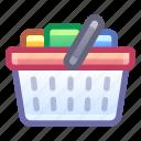 shopping, cart, basket, checkout