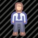 company, employee, worker, male