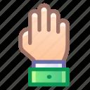 palm, hand, high, five