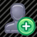 account, user, add, new