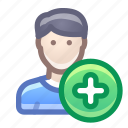account, user, male, add, new