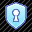 shield, privacy, secret, keyhole