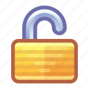 lock, security, unlock, open