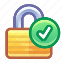 lock, security, encryption, check, tick