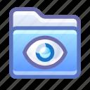 folder, eye, hidden, private