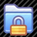 folder, lock, encrypted, secure
