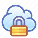 cloud, lock, encrypted, secure