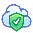 cloud, shield, protected, safe
