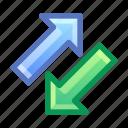 arrows, traffic, exchange