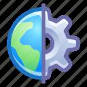 global, process, gear, settings