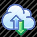cloud, sync, synchronize, traffic