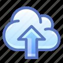 cloud, internet, send, upload