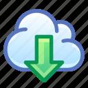 cloud, internet, download