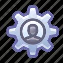 gear, account, settings, options
