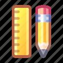 ruler, tool, edit, pencil