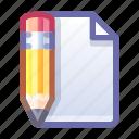 pencil, document, edit, write