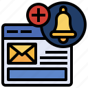 communications, email, mail, mails, message, notification, ui