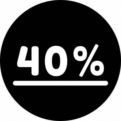 forty, graphic, info, percent icon